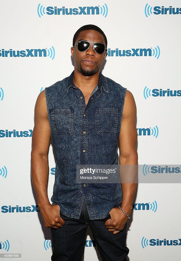 Actor Chadwick Boseman visits SiriusXM Studios on July 28 2014 in New York City