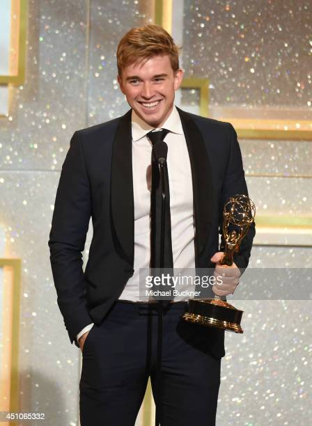Actor Chandler Massey onstage during The 41st Annual Daytime Emmy Awards at The Beverly Hilton Hotel on June 22 2014 in Beverly Hills California