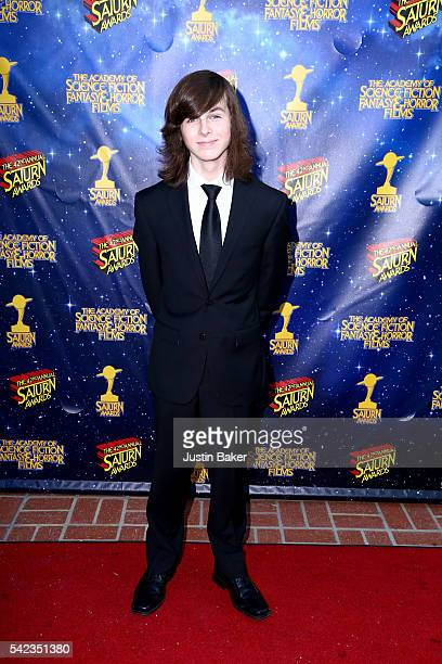 Actor Chandler Riggs arrives for the 42nd Annual Saturn Awards at The Castaway on June 22 2016 in Burbank California