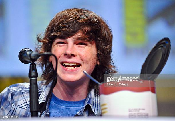 Actor Chandler Riggs at AMC's 'The Walking Dead' Panel on Friday Day 2 of ComicCon International 2014 held at San Diego Convention Center on July 25...