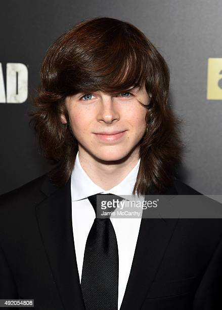Actor Chandler Riggs attend AMC's 'The Walking Dead' Season 6 Fan Premiere Event 2015 at Madison Square Garden on October 9 2015 in New York City