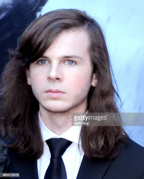 Actor Chandler Riggs attends AMC Celebrates The 100th Episode Of 'The Walking Dead' at The Greek Theatre on October 22 2017 in Los Angeles California