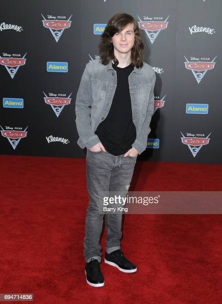 Actor Chandler Riggs attends the World Premiere of Disney and Pixar's 'Cars 3' at Anaheim Convention Center on June 10 2017 in Anaheim California