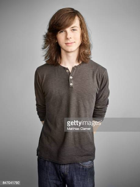 Actor Chandler Riggs from 'The Walking Dead' is photographed for Entertainment Weekly Magazine on July 23 2016 at Comic Con in the Hard Rock Hotel in...