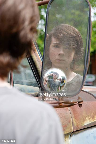 Actor Chandler Riggs is photographed for LVLten Magazine on June 29 2014 in Atlanta Georgia