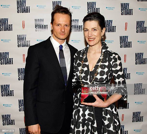 Actor Chandler Williams and actress Harriet Walter attend the opening night party for 'Mary Stuart' at Tavern on the Green on April 19 2009 in New...