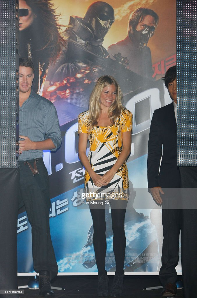 actor Channing Tatum actress Sienna Miller actor Lee ByungHun attend the 'G I Joe The Rise of Cobra' press conference at the Shilla Hotel on July 29...