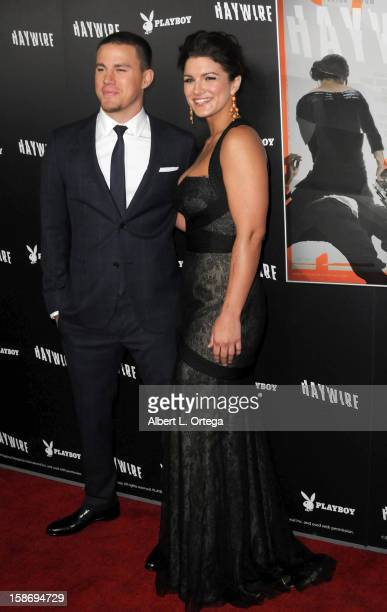 Actor Channing Tatum and actress Gina Carano arrive for Relativity Media's 'Haywire' Los Angeles Premiere hosted by Playboy at the DGA Theatre on...