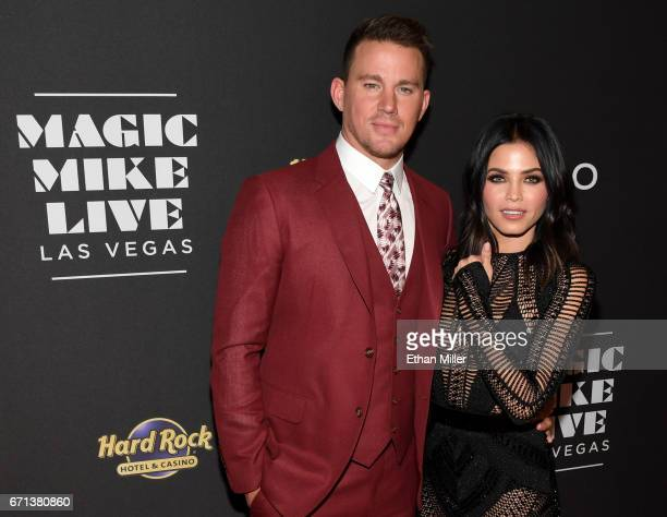 Actor Channing Tatum and actress Jenna Dewan Tatum attend the grand opening of 'Magic Mike Live Las Vegas' at the Hard Rock Hotel Casino on April 21...