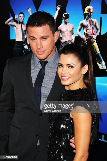Actor Channing Tatum and actress Jenna DewanTatum arrive at the closing night gala premiere of 'Magic Mike' at the 2012 Los Angeles Film Festiva held...