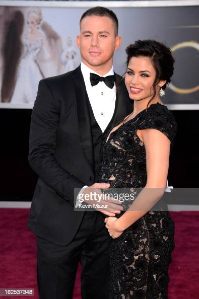 Actor Channing Tatum and actress Jenna DewanTatum arrives at the Oscars held at Hollywood Highland Center on February 24 2013 in Hollywood California