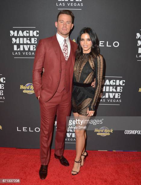 Actor Channing Tatum and actress Jenna DewanTatum attend the grand opening of 'Magic Mike Live Las Vegas' at the Hard Rock Hotel Casino on April 21...