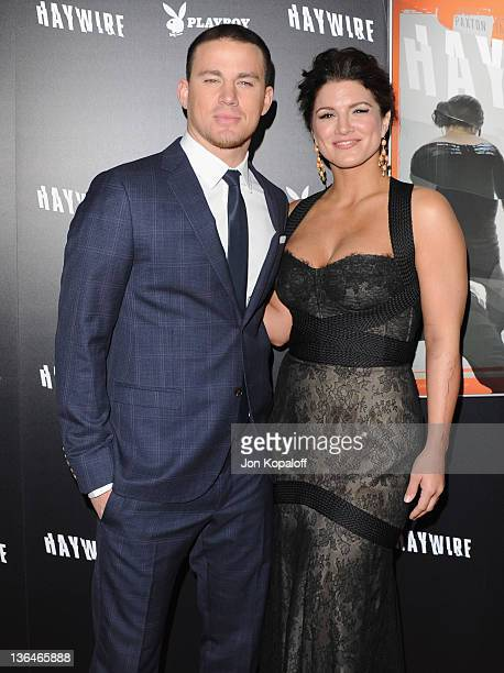 Actor Channing Tatum and actress/mixed martial artist Gina Carano arrive at the Los Angeles Premiere 'Haywire' at Directors Guild Of America on...