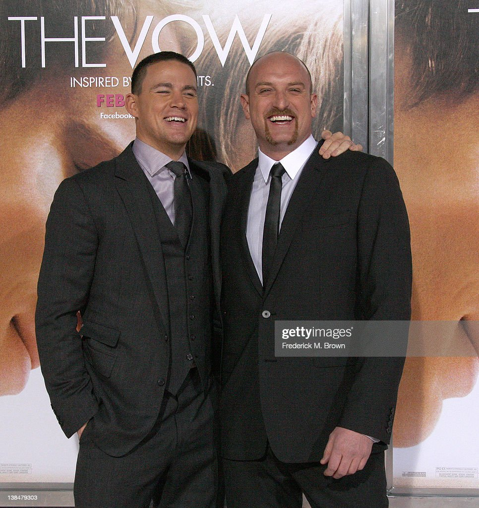 Actor <a gi-track='captionPersonalityLinkClicked' href=/galleries/search?phrase=Channing+Tatum&family=editorial&specificpeople=549548 ng-click='$event.stopPropagation()'>Channing Tatum</a> (L) and director <a gi-track='captionPersonalityLinkClicked' href=/galleries/search?phrase=Michael+Sucsy&family=editorial&specificpeople=5769269 ng-click='$event.stopPropagation()'>Michael Sucsy</a> attend the Premiere of Sony Pictures' 'The Vow' at Grauman's Chinese Theatre on February 6, 2012 in Hollywood, California.