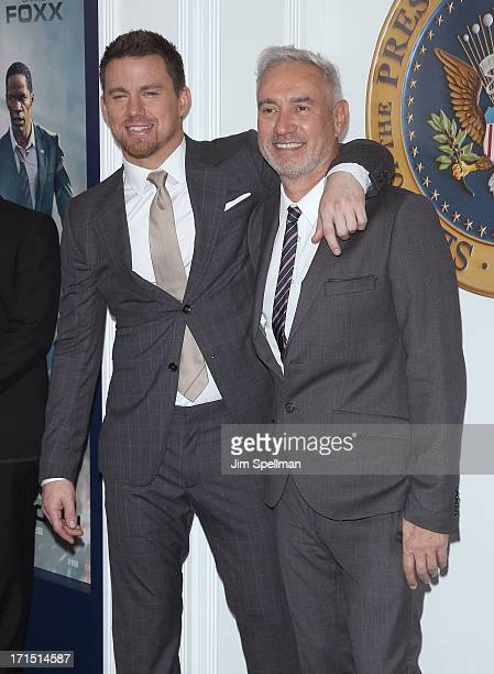 Actor Channing Tatum and director Roland Emmerich attends 'White House Down' New York Premiere at Ziegfeld Theater on June 25 2013 in New York City