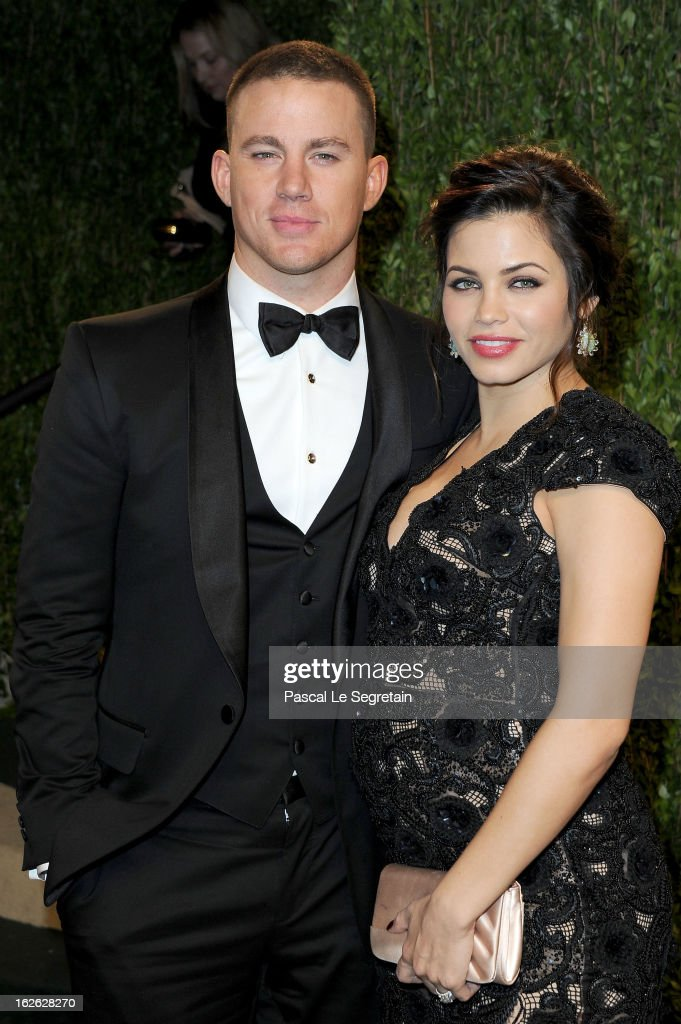 Actor Channing Tatum and Jenna Dewan arrive at the 2013 Vanity Fair Oscar Party hosted by Graydon Carter at Sunset Tower on February 24, 2013 in West Hollywood, California.