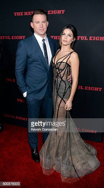 Actor Channing Tatum and Jenna Dewan Tatum attend the premiere of The Weinstein Company's 'The Hateful Eight' at ArcLight Cinemas Cinerama Dome on...