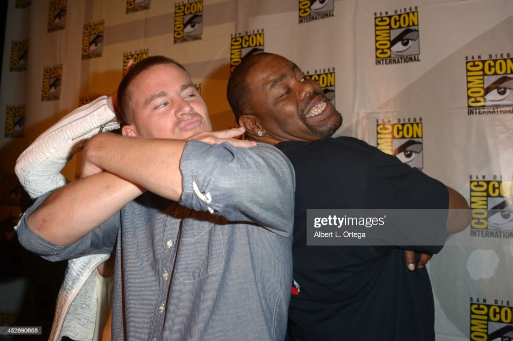 Actor Channing Tatum (L) and rapper Biz Markie attend the 20th Century Fox presentation during Comic-Con International 2014 at San Diego Convention Center on July 25, 2014 in San Diego, California.