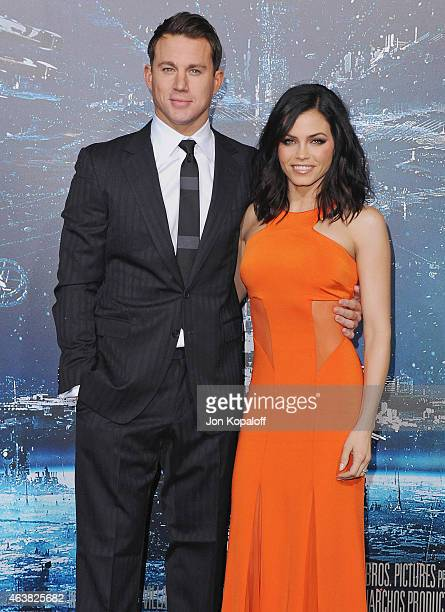 Actor Channing Tatum and wife actress Jenna Dewan Tatum arrive at the Los Angeles Premiere 'Jupiter Ascending' at TCL Chinese Theatre on February 2...