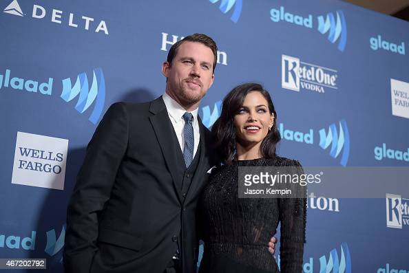 Actor Channing Tatum and wife Jenna Dewan attend the 26th Annual GLAAD Media Awards at The Beverly Hilton Hotel on March 21 2015 in Beverly Hills...