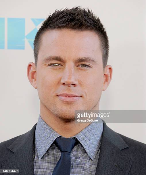 Actor Channing Tatum arrives at the 2012 Los Angeles Film Festival closing night gala premiere of 'Magic Mike' at Regal Cinemas LA Live on June 24...