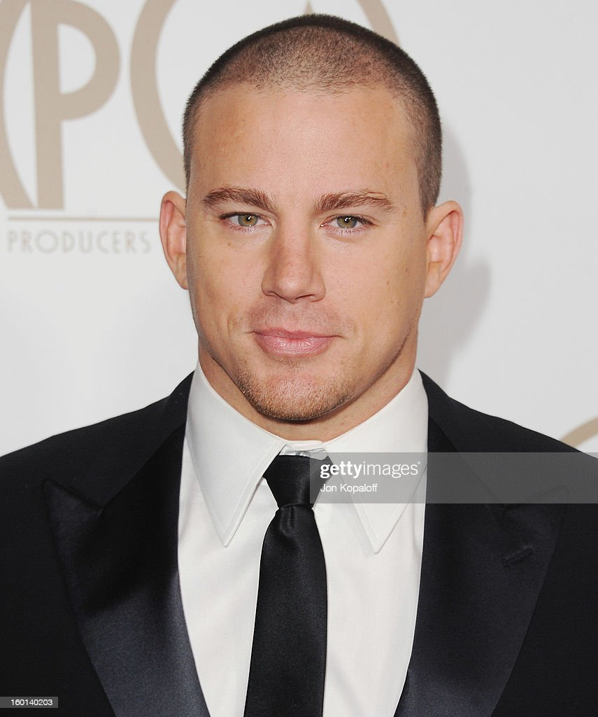 Actor <a gi-track='captionPersonalityLinkClicked' href=/galleries/search?phrase=Channing+Tatum&family=editorial&specificpeople=549548 ng-click='$event.stopPropagation()'>Channing Tatum</a> arrives at the 24th Annual Producers Guild Awards at The Beverly Hilton Hotel on January 26, 2013 in Beverly Hills, California.
