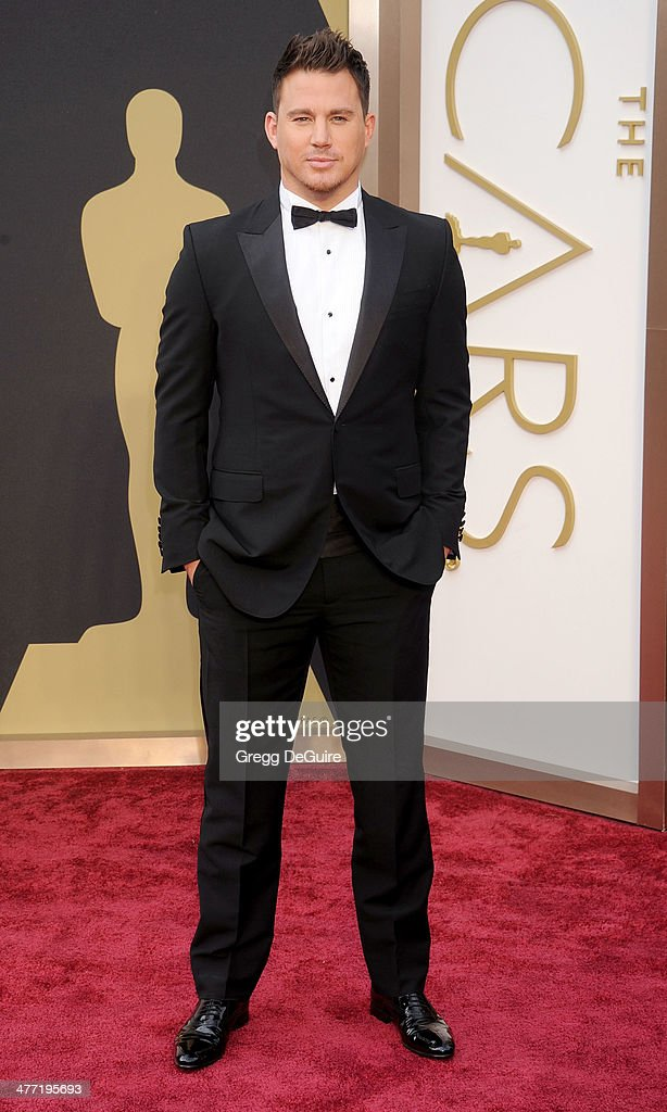Actor Channing Tatum arrives at the 86th Annual Academy Awards at Hollywood & Highland Center on March 2, 2014 in Hollywood, California.