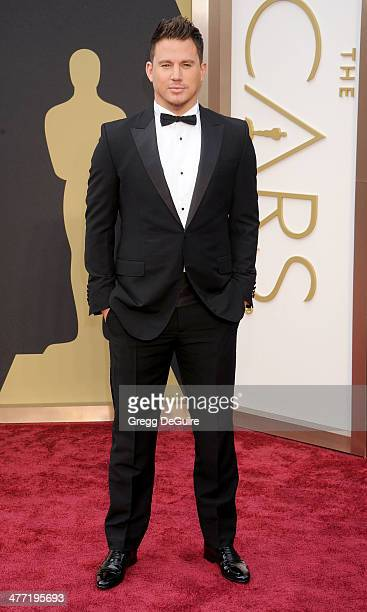 Actor Channing Tatum arrives at the 86th Annual Academy Awards at Hollywood Highland Center on March 2 2014 in Hollywood California