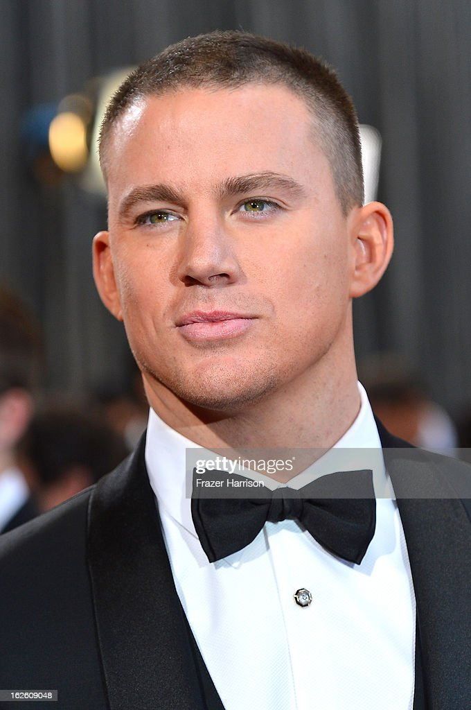 Actor Channing Tatum arrives at the Oscars at Hollywood & Highland Center on February 24, 2013 in Hollywood, California.