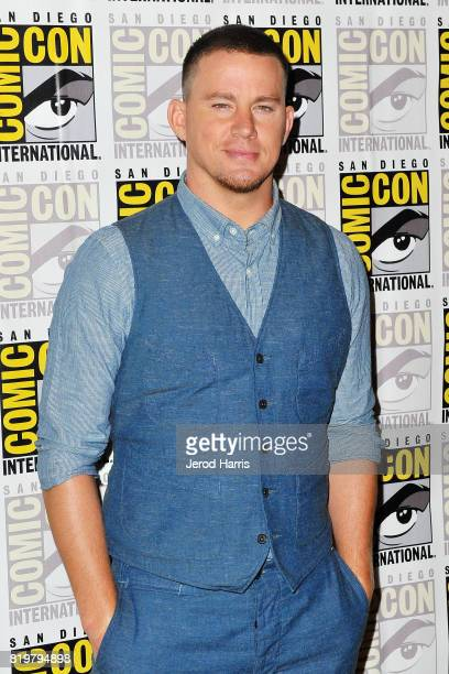 Actor Channing Tatum attends 'Kingsman The Secret Service' press line at ComicCon International 2017 Day 1 on July 20 2017 in San Diego California