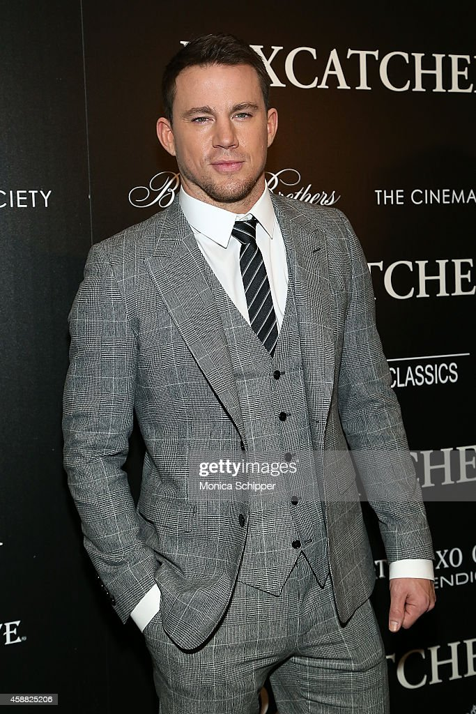 Actor <a gi-track='captionPersonalityLinkClicked' href=/galleries/search?phrase=Channing+Tatum&family=editorial&specificpeople=549548 ng-click='$event.stopPropagation()'>Channing Tatum</a> attends Sony Pictures Classics screening of 'Foxcatcher' hosted by Details, Brooks Brothers & Patron with The Cinema Society at Museum of Modern Art on November 11, 2014 in New York City.