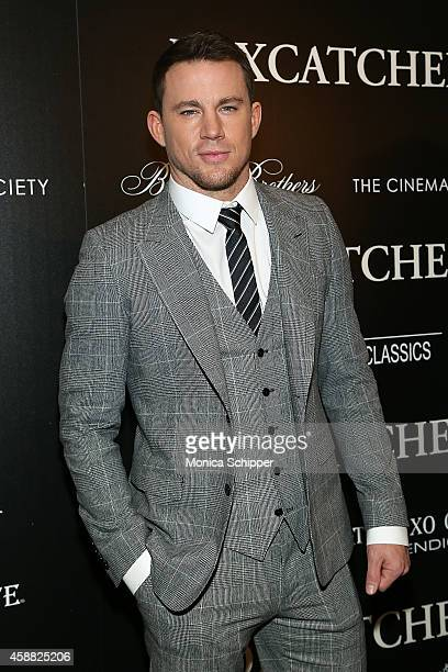 Actor Channing Tatum attends Sony Pictures Classics screening of 'Foxcatcher' hosted by Details Brooks Brothers Patron with The Cinema Society at...