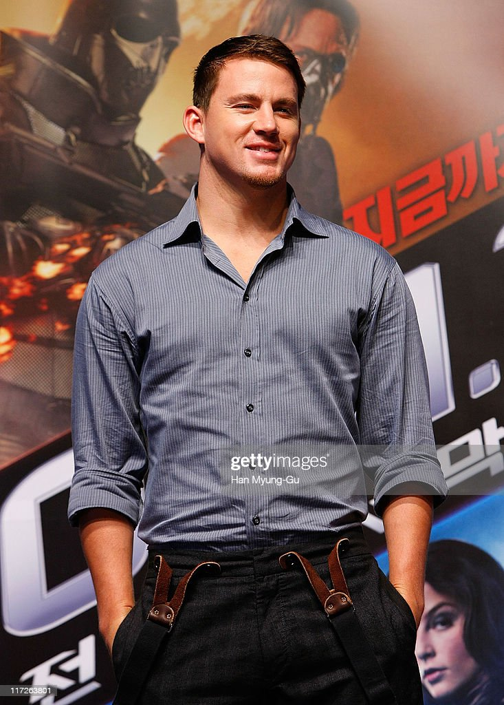 Actor Channing Tatum attends the G I Joe The Rise of Cobra press conference at the Shilla Hotel on July 29 2009 in Seoul South Korea The film will...