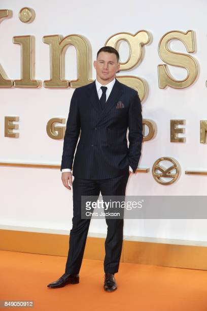 Actor Channing Tatum attends the 'Kingsman The Golden Circle' World Premiere held at Odeon Leicester Square on September 18 2017 in London England