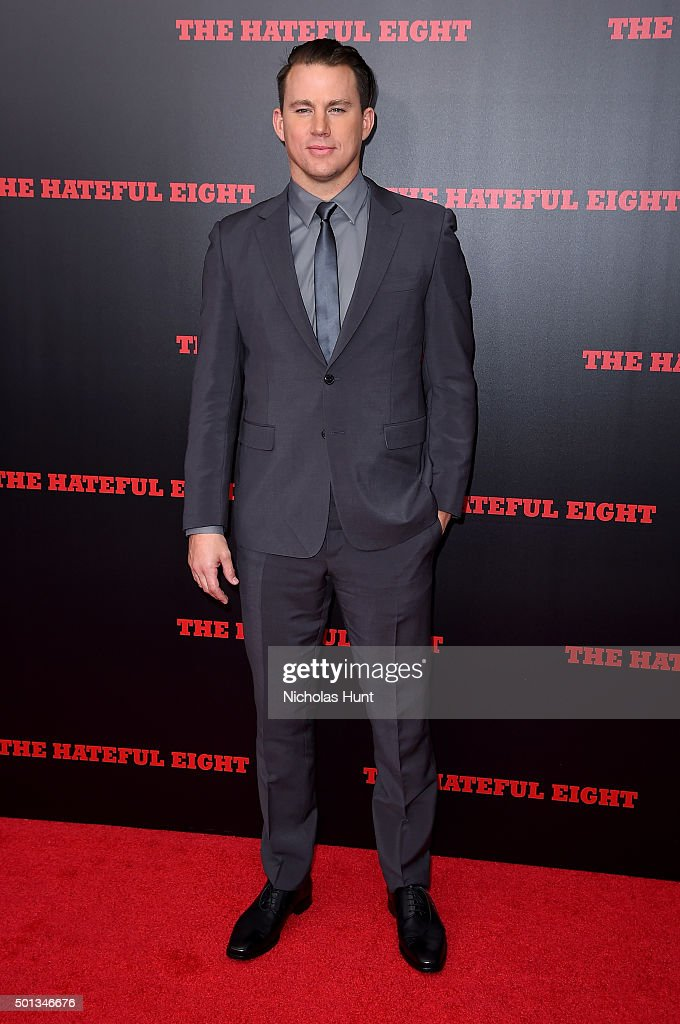 Actor <a gi-track='captionPersonalityLinkClicked' href=/galleries/search?phrase=Channing+Tatum&family=editorial&specificpeople=549548 ng-click='$event.stopPropagation()'>Channing Tatum</a> attends the New York premiere of 'The Hateful Eight' on December 14, 2015 in New York City.