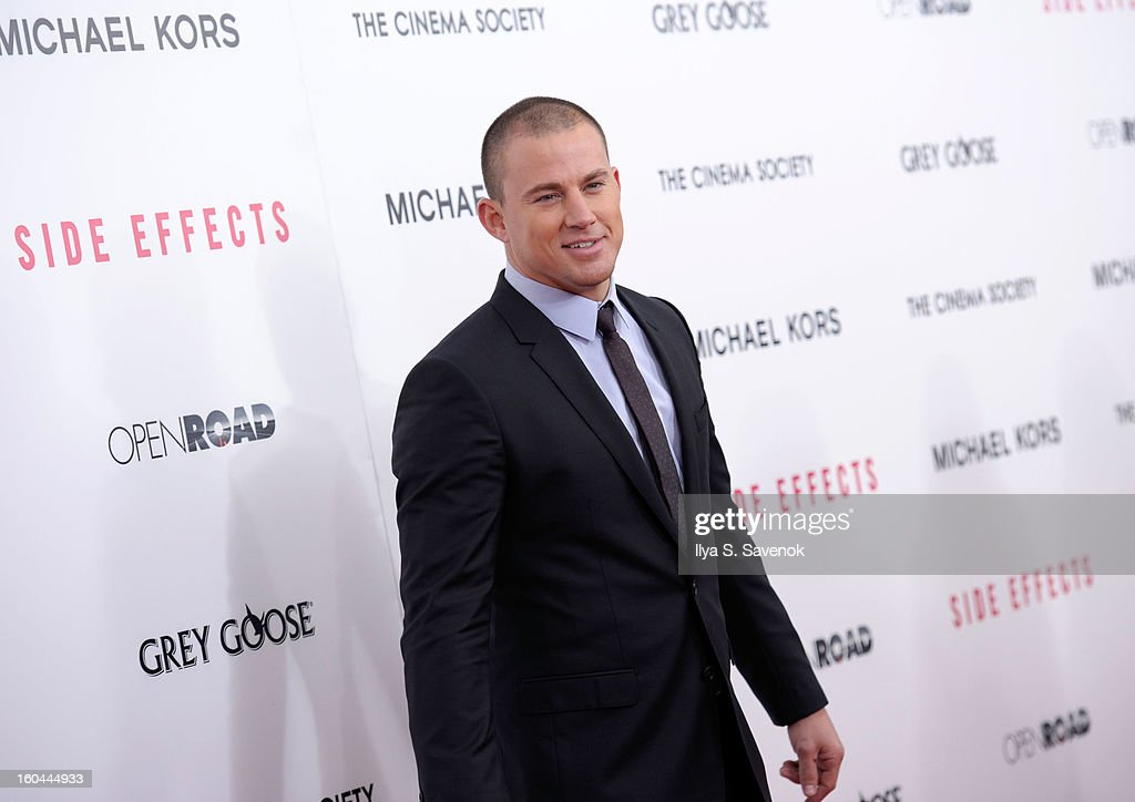 Actor <a gi-track='captionPersonalityLinkClicked' href=/galleries/search?phrase=Channing+Tatum&family=editorial&specificpeople=549548 ng-click='$event.stopPropagation()'>Channing Tatum</a> attends the premiere of 'Side Effects' hosted by Open Road with The Cinema Society and Michael Kors at AMC Lincoln Square Theater on January 31, 2013 in New York City.