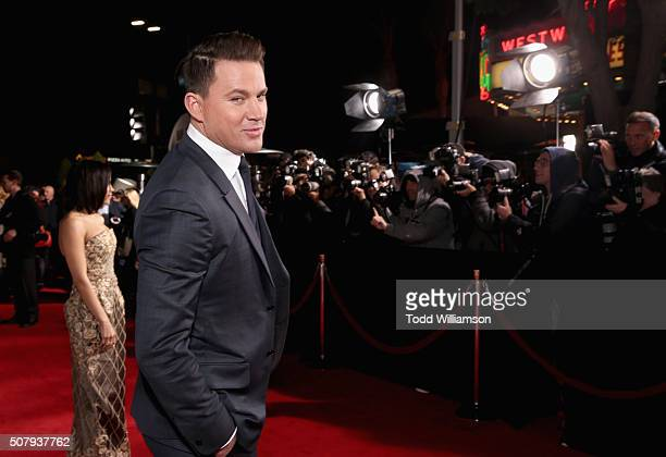Actor Channing Tatum attends Universal Pictures' 'Hail Caesar' premiere at Regency Village Theatre on February 1 2016 in Westwood California