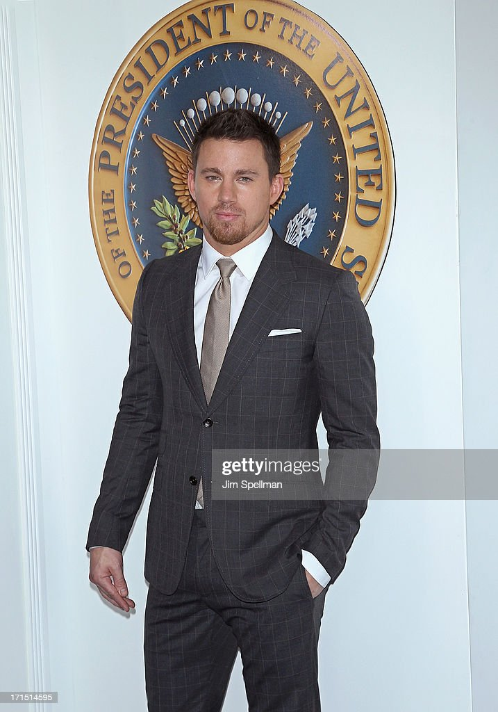 Actor Channing Tatum attends 'White House Down' New York Premiere at Ziegfeld Theater on June 25, 2013 in New York City.