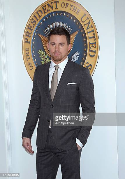Actor Channing Tatum attends 'White House Down' New York Premiere at Ziegfeld Theater on June 25 2013 in New York City