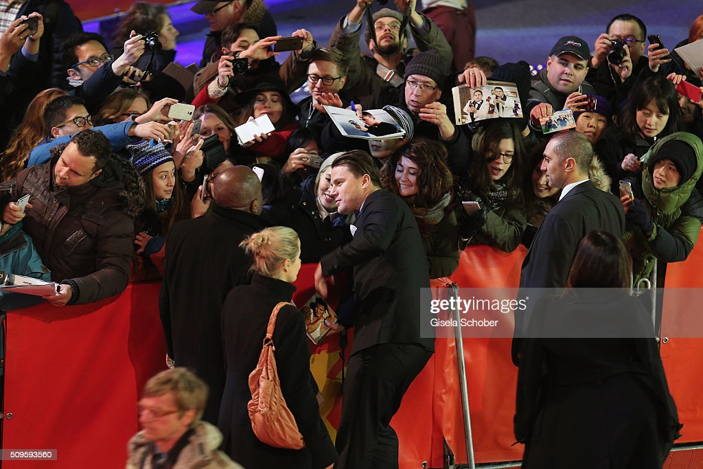 Actor <a gi-track='captionPersonalityLinkClicked' href=/galleries/search?phrase=Channing+Tatum&family=editorial&specificpeople=549548 ng-click='$event.stopPropagation()'>Channing Tatum</a> poses for a photograph prior the 'Hail, Caesar!' premiere during the 66th Berlinale International Film Festival Berlin at Berlinale Palace on February 11, 2016 in Berlin, Germany.