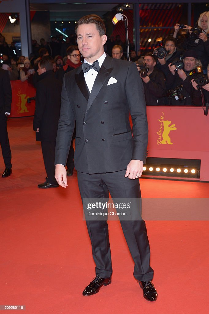 Actor <a gi-track='captionPersonalityLinkClicked' href=/galleries/search?phrase=Channing+Tatum&family=editorial&specificpeople=549548 ng-click='$event.stopPropagation()'>Channing Tatum</a> the 'Hail, Caesar!' premiere during the 66th Berlinale International Film Festival Berlin at Berlinale Palace on February 11, 2016 in Berlin, Germany.