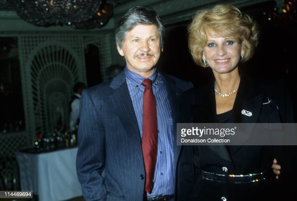 Actor Charles Bronson Actress Jill Ireland pose for a portrait in circa 1985 in Los Angeles California