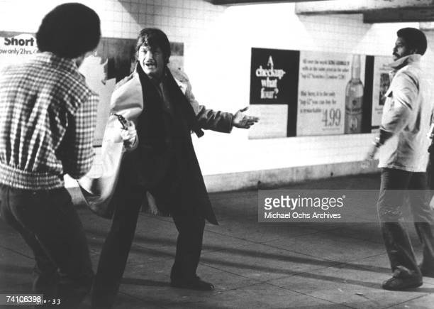 Actor Charles Bronson in scene from movie 'Death Wish' directed by Michael Winner