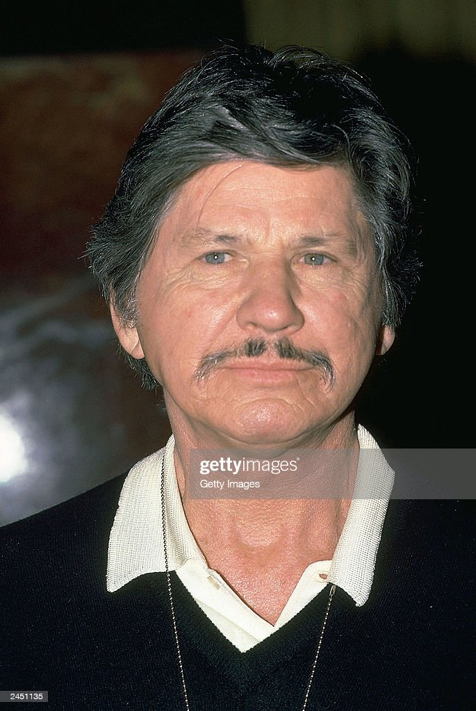 Actor Charles Bronson shown in this undated photo taken in New York City. Bronson died at the age of 81 of pneumonia August 30, 2003 in Los Angeles, California.