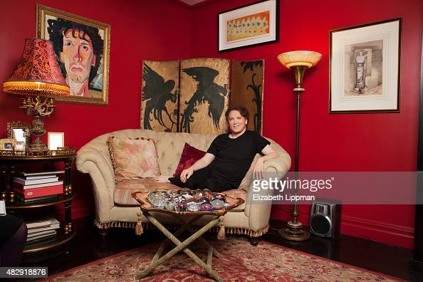 Actor Charles Busch is photographed for Boston Globe on November 8 2014 in his apartment in New York City