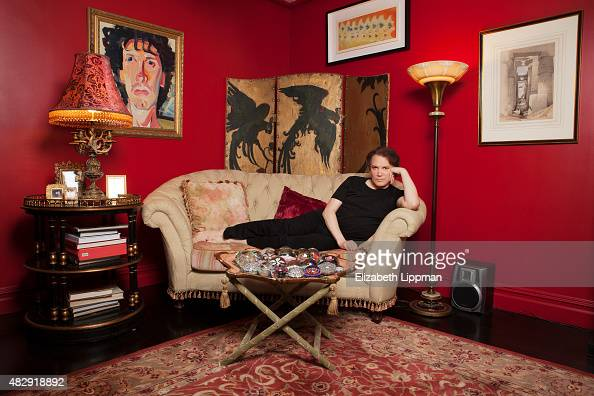 Actor Charles Busch is photographed for Boston Globe on November 8 2014 in his apartment in New York City PUBLISHED IMAGE