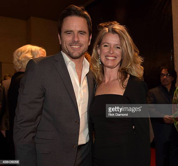 Actor Charles Esten and Patty Hanson attend the BMI 2014 Country Awards at BMI on November 4 2014 in Nashville Tennessee