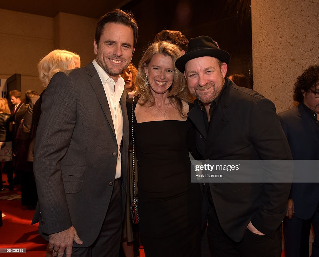 Actor Charles Esten Patty Hanson and singersongwriter Kristian Bush attend the BMI 2014 Country Awards at BMI on November 4 2014 in Nashville...