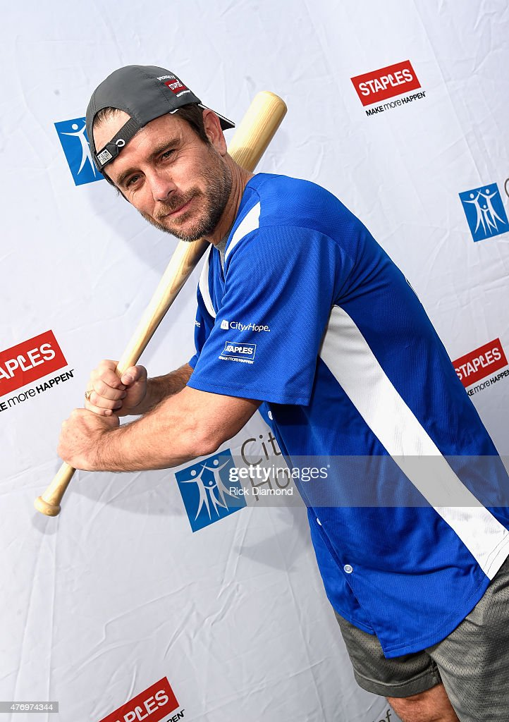 Actor Charles Esten steps up to strike out cancer at City of Hope's 25th Annual Celebrity Softball Game at First Tennessee Park on June 13, 2015 in Nashville, Tennessee.