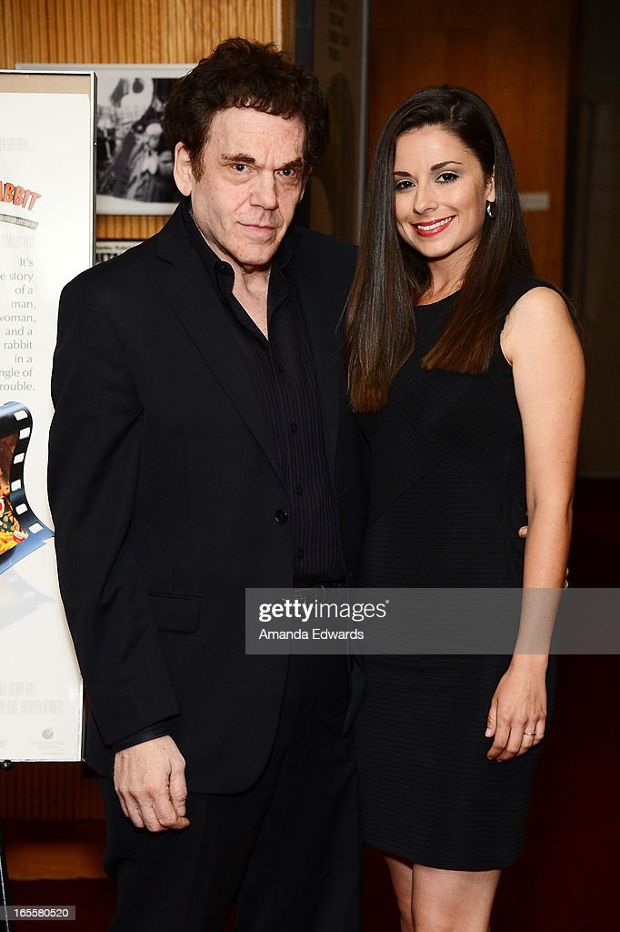 Actor Charles Fleischer (L) and Amy Ambrose arrive at The Academy Of Motion Picture Arts And Sciences' 25th Anniversary Screening Of 'Who Framed Roger Rabbit' at AMPAS Samuel Goldwyn Theater on April 4, 2013 in Beverly Hills, California.